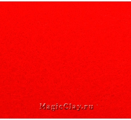 Фетр жёсткий Корея 1,2мм, 26*33см, цвет Красный