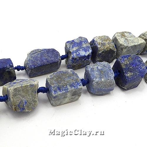 Бусины Лазурит камень 17~30х11~26мм, 1нить (~5шт)