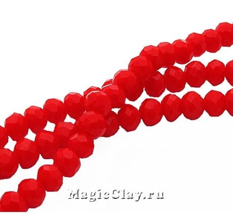 Бусины рондели Красный Игривый 3,5x2мм, 1нить (~145шт)