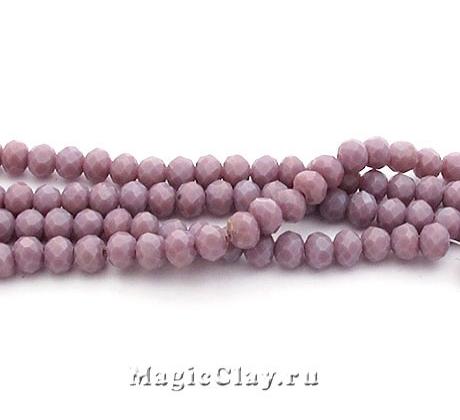 Бусины рондели Пурпурный Светлый 3,5x2мм, 1нить (~145шт)
