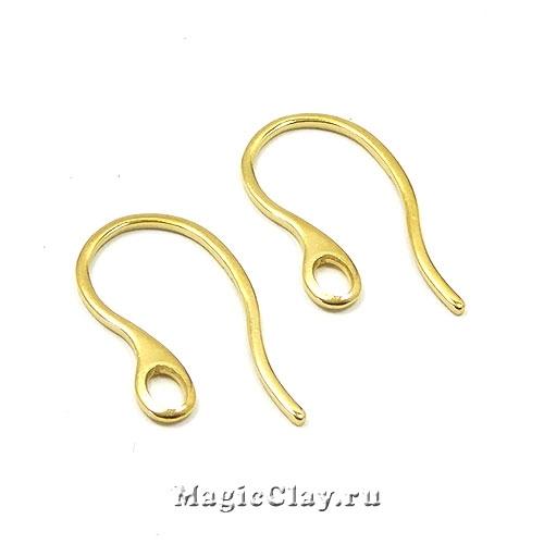 Швензы крючки с отверстием 22х11,5мм, сталь золото, 1пара