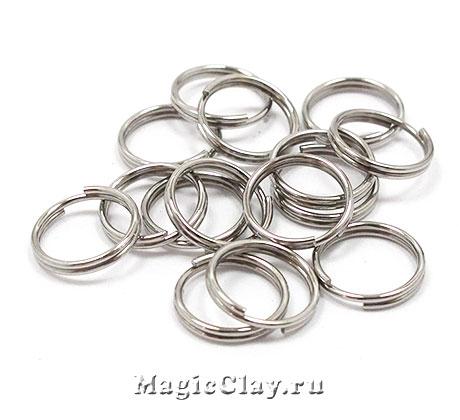 Колечки двойные 8х1мм, сталь, 8гр (~80шт)