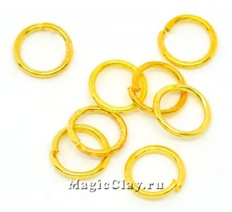 Колечки разъемные, цвет золото 7х1мм, латунь 1уп (~100шт)