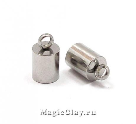 Концевик с ушком 9х5мм, сталь, 6шт