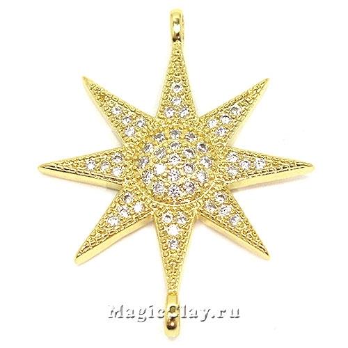 Коннектор Звезда 31х24мм, цвет золото, 1шт