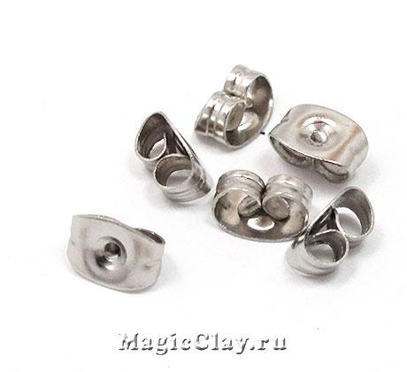 Заглушки для серег 6,5х4,5мм, сталь, 3гр (~45шт)