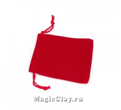 Сумочка подарочная из бархата 9х7см, цвет Красный
