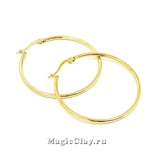 Швензы Кольца 40мм, сталь золото, 1пара