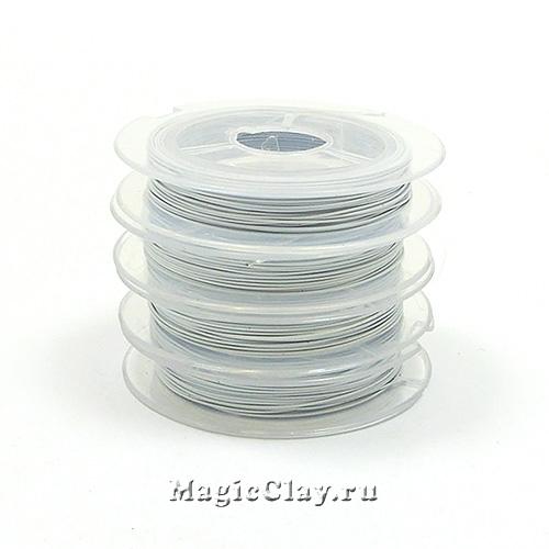 Ювелирный тросик 0,38мм, цвет Белый