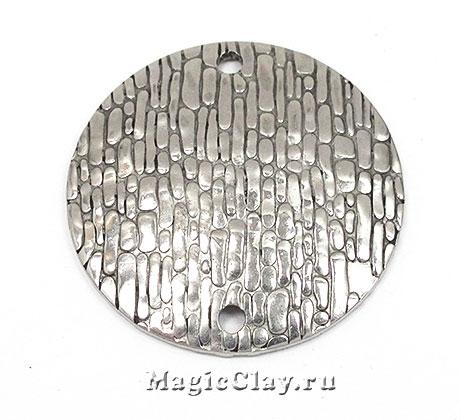 Коннектор Круг Камень 30х1,5мм, сталь, 1шт