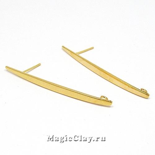Швензы гвоздики Капель 52х3,5мм, Real Gold, 1пара