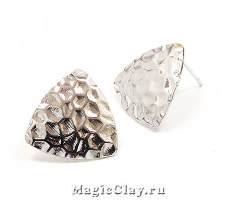 Швензы гвоздики Камень, Real Platinum Plated
