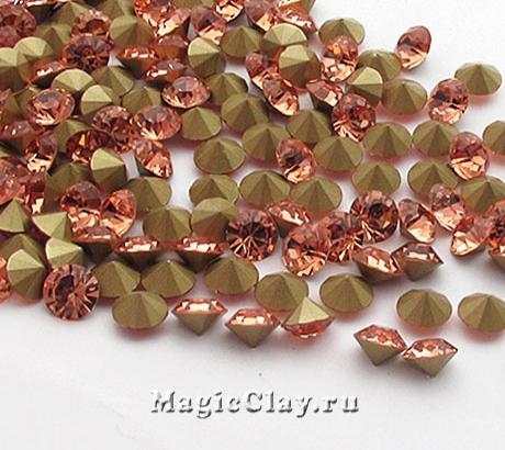 Стразы конусные для бижутерии SS12, цвет Светло-Персиковый