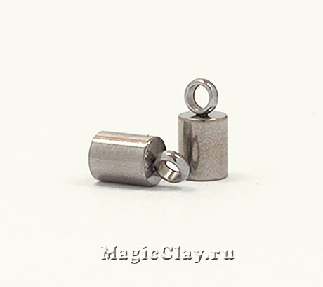 Концевик с ушком 8х4мм, сталь, 4шт