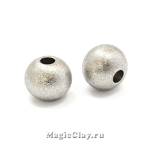 Бусина Звездная пыль 10х9мм, сталь, 1шт