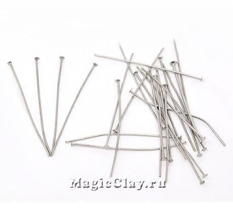 Пины гвоздики 30х0,7мм, сталь, 25гр (~265шт)
