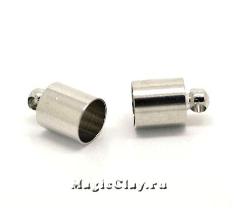 Концевик с ушком 12х8мм, сталь, 4шт