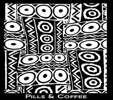 Silk Screen трафарет Pills & Coffee