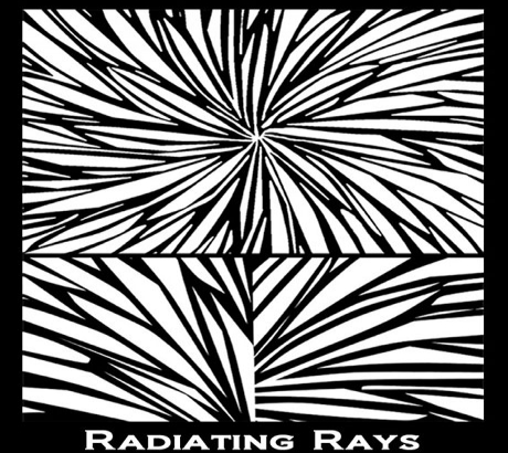 Silk Screen трафарет Radiating Rays