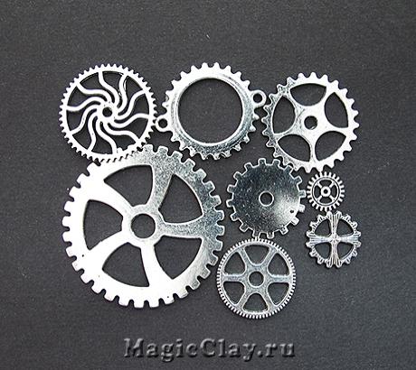 Watch Часовые Механизмы, цвет серебро, 10шт