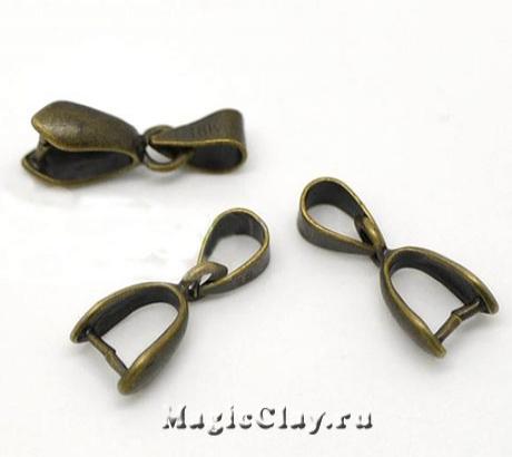 Бейл Зажимной Крокус 17х7мм, цвет античная бронза, 1шт