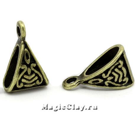 Бейл Афродита 15х9мм, цвет античная бронза, 5шт