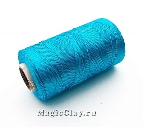 Нить Doli вискоза, цвет Голубой Яркий 03676