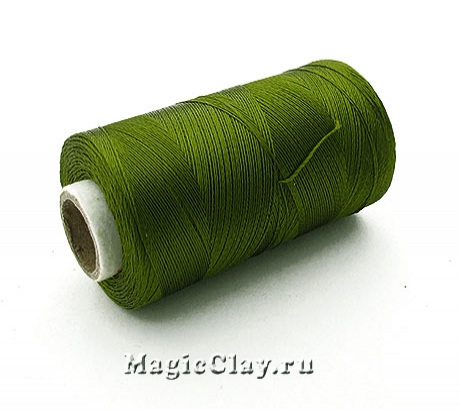 Нить Doli вискоза, цвет Зеленый Хаки 03846