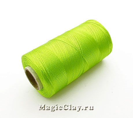 Нить Doli вискоза, цвет Зелено-Желтый 00162