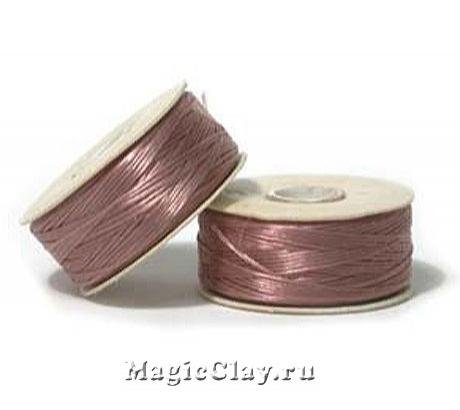 Нить NYMO для бисероплетения, размер D, цвет Розовый Лиловый