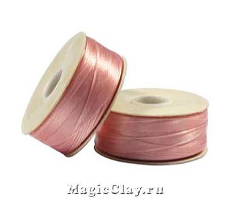 Нить NYMO для бисероплетения, размер D, цвет Розовый