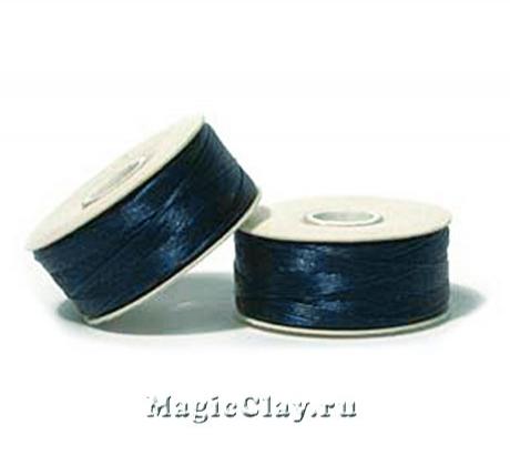 Нить NYMO для бисероплетения, размер D, цвет Синий Темный