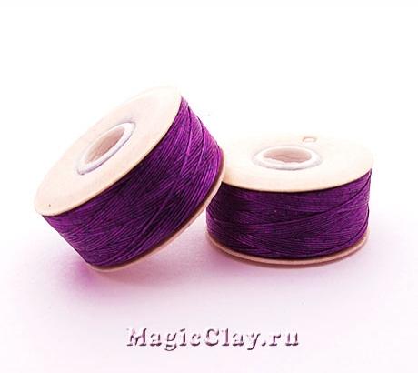 Нить NYMO для бисероплетения, размер B, цвет Фиолетовый Темный
