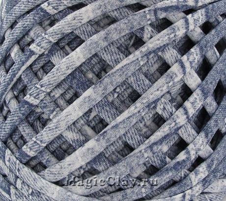 Трикотажная пряжа Biskvit, цвет Джинс, 10 метров