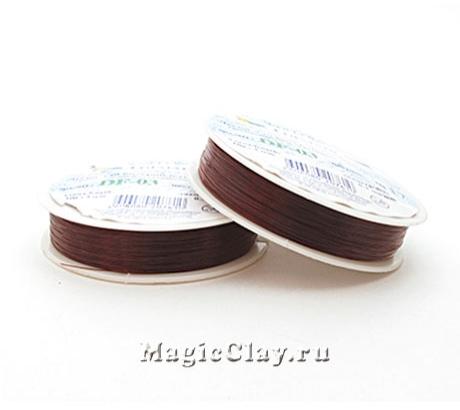 Леска для бисероплетения Гамма 0,3мм, цвет шоколад