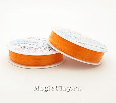 Леска для бисероплетения Гамма 0,3мм, цвет оранжевый