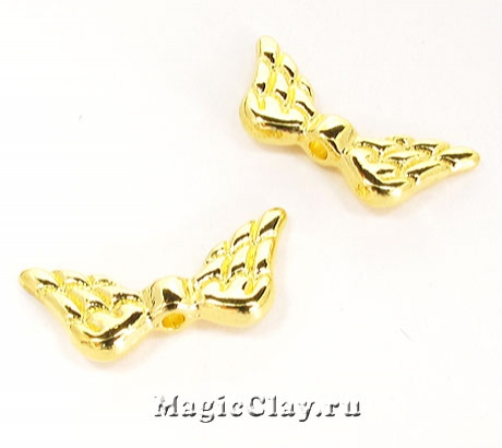 Бусина Крылья 20х10мм, цвет золото, 1шт