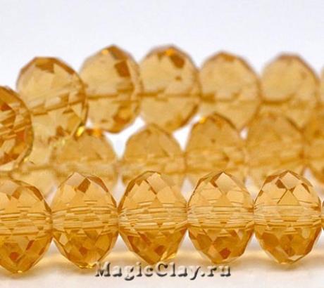 Бусины рондели Тростниковый Сахар 10х8мм, 20шт