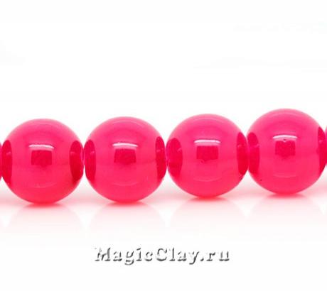 Бусины Розовый Роскошный 10мм, 1нить (~40шт)