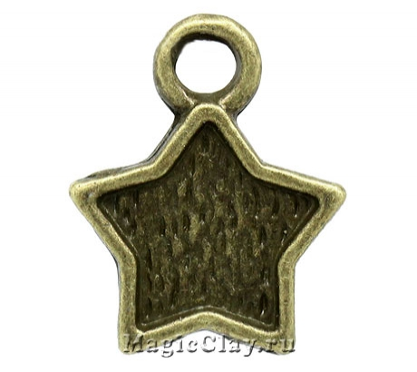 Основа для кулона Звездочет 11х10мм, цвет античная бронза, 5шт