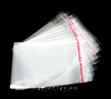 Пакеты с клеящим краем, 9х6 см