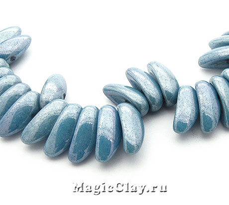 Бусины Chilli 4мм, Chalk Blue Lustered, 1нить (~40шт)