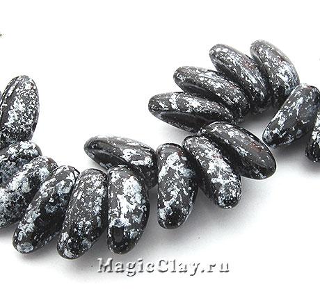 Бусины Chilli 4мм, Tweedy Silver, 1нить (~40шт)