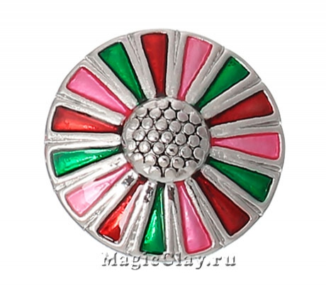 Кнопка Chunk Луговые Поля, цвет серебро