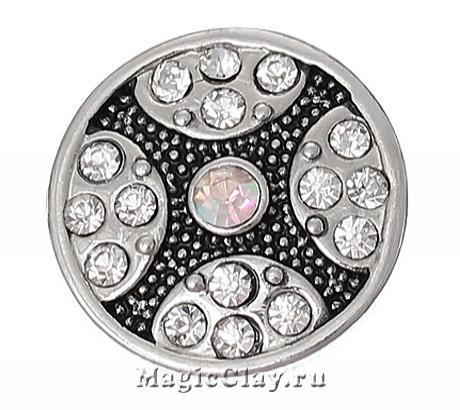 Кнопка Chunk Искры, цвет серебро