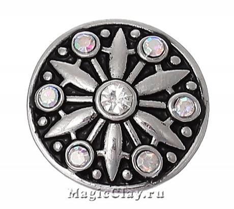 Кнопка Chunk Созвездие, цвет серебро