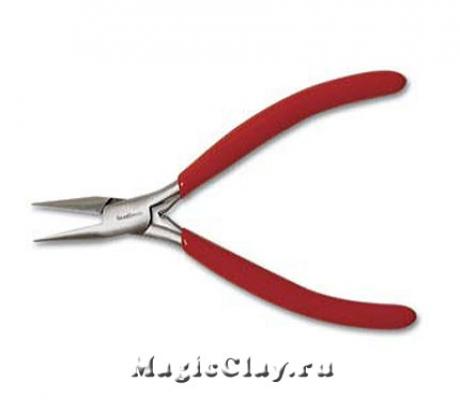 Тонкогубцы плоские BeadSmith, красный