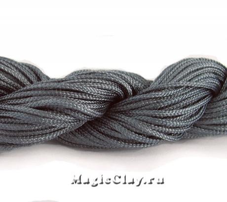 Шнур нейлоновый для Шамбалы 1мм Серый, 1 моток (~26метров)