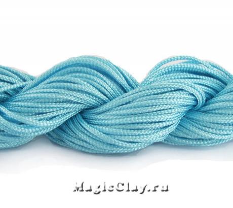 Шнур нейлоновый для Шамбалы 1мм Голубой, 1 моток (~26метров)