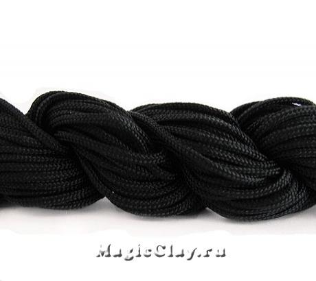 Шнур нейлоновый для Шамбалы 1мм Черный, 1 моток (~26метров)